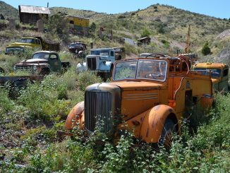 Rusting trucks of Jerome, Arizona