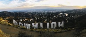 The view from behind the Hollywood Sign