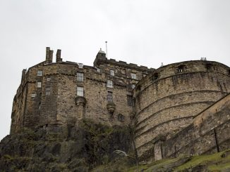 Side view of Edinburgh Castle