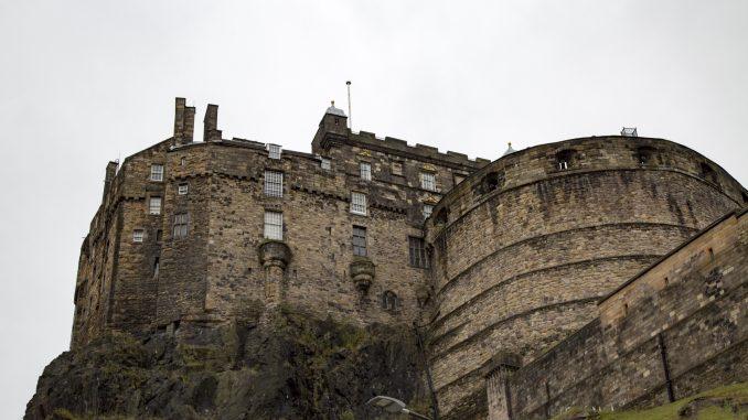 Side view of Edinburgh Castle