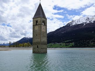 Reschensee with Church Tower
