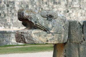 Mayan Serpent Sculpture