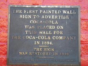 Coca Cola Plaque