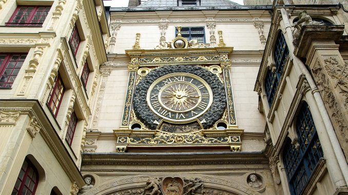 The Gros-Horloge Clock in France