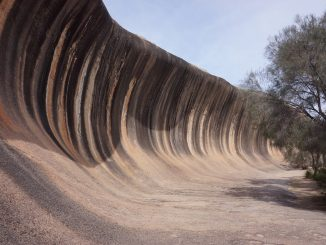 Wave Rock in Hyden, Western Australia