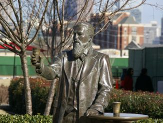 John Pemberton statue outside the World of Coca-Cola