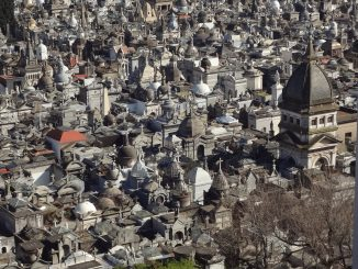 An aerial view of the Recoleta Cemetery