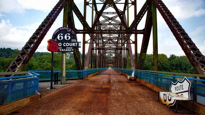 The Chain of Rocks Bridge