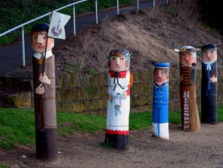 Painted Bollards, Geelong, Australia