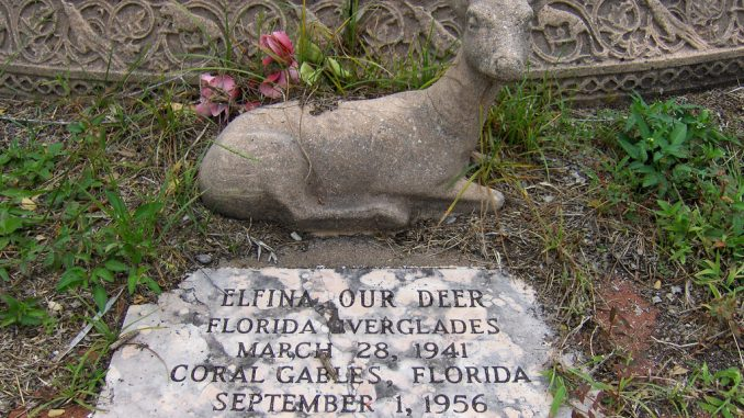 Elfina the Deer Grave Marker