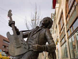 Jimi Hendrix Statue in Seattle, Washington