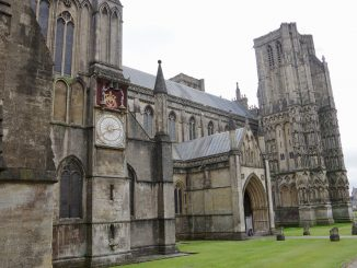 Wells Cathedral with Clock