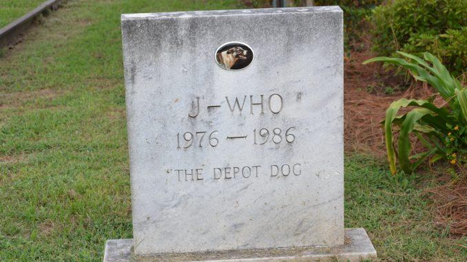 Depot Dog Grave Marker